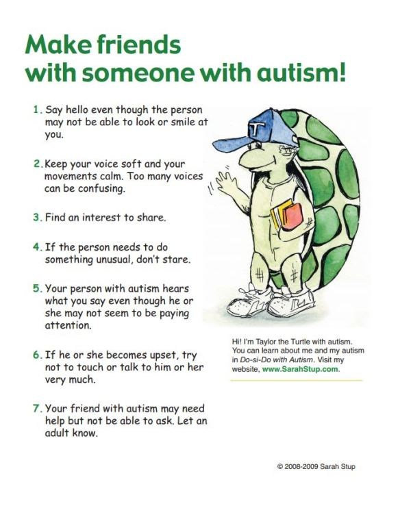 Make friends with someone with Autism