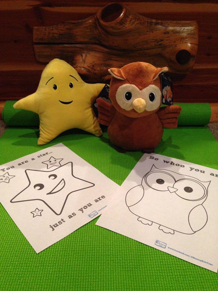 owl & star plush