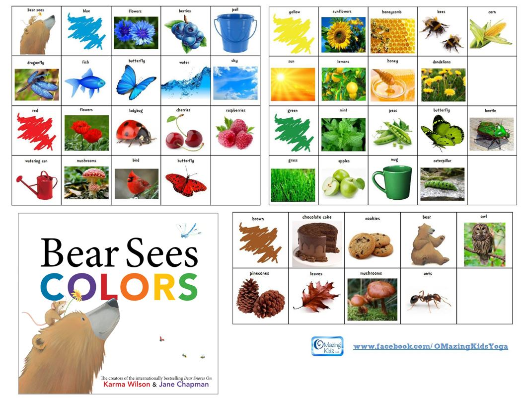 Free Printable Symbols For Bear Sees Colors By Karma Wilson Jane
