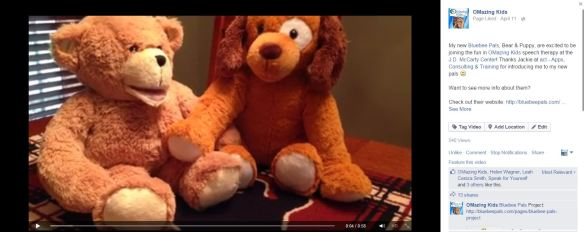 Bluebee Pals video on the OMazing Kids Facebook Page