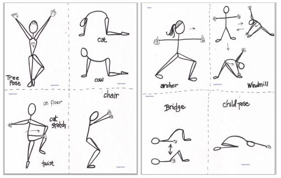 printable yoga pose cards
