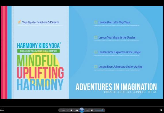 Harmony Kids Yoga DVD intro screen