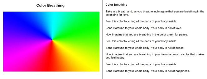 Color Breathing guided relaxation