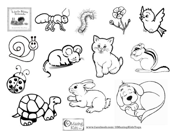 Little Bitty Friends - coloring page from OMazing Kids