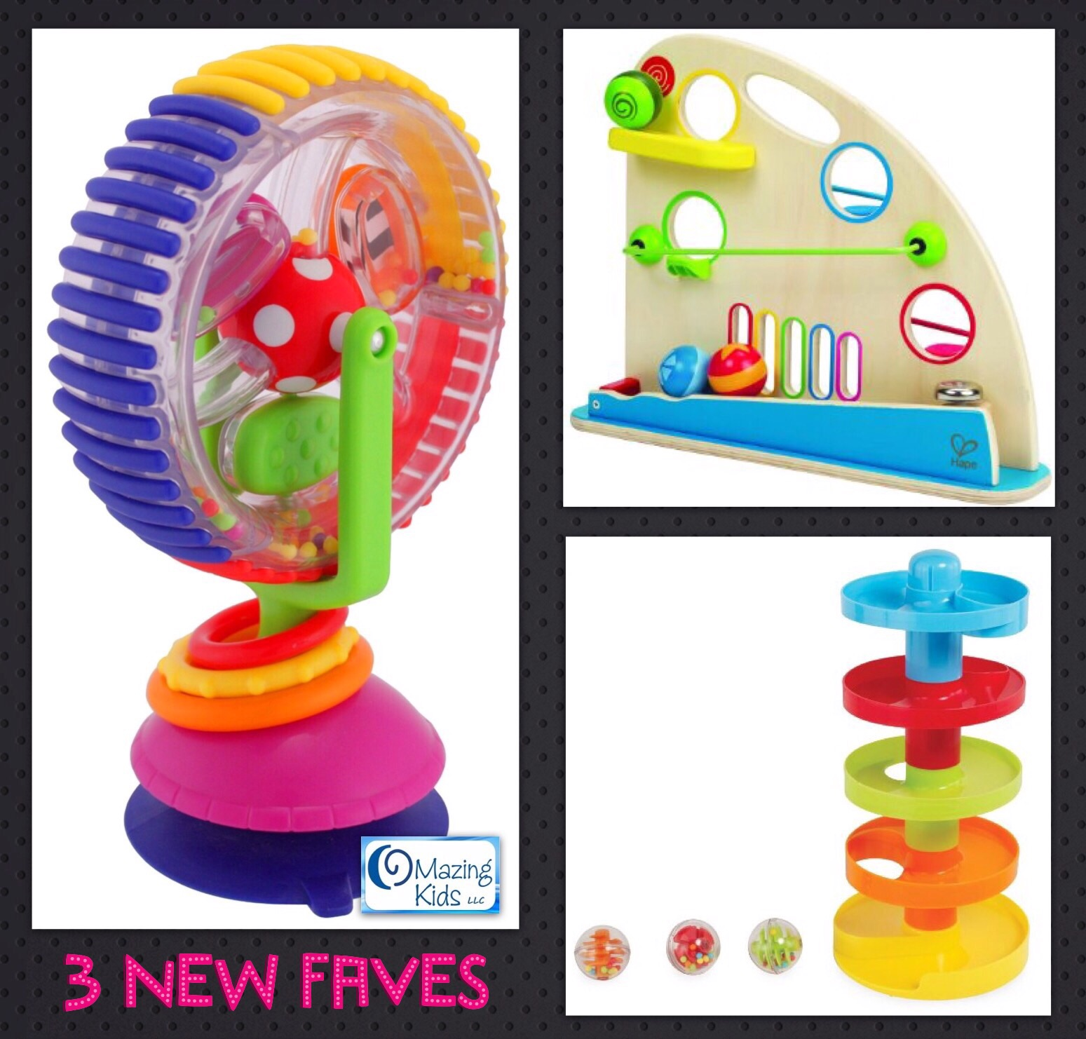 3 Favorite Toys Wonder Wheel Ball Mountain & Ball Drop Tower
