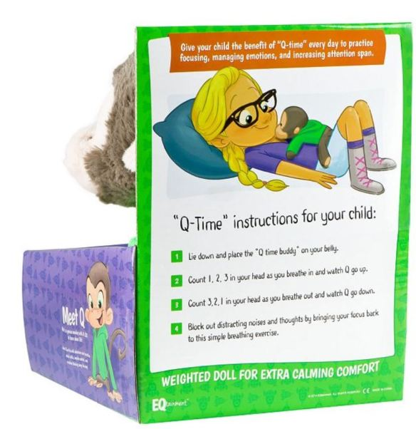 Breathing activity instructions for Q-Time Buddy plush doll