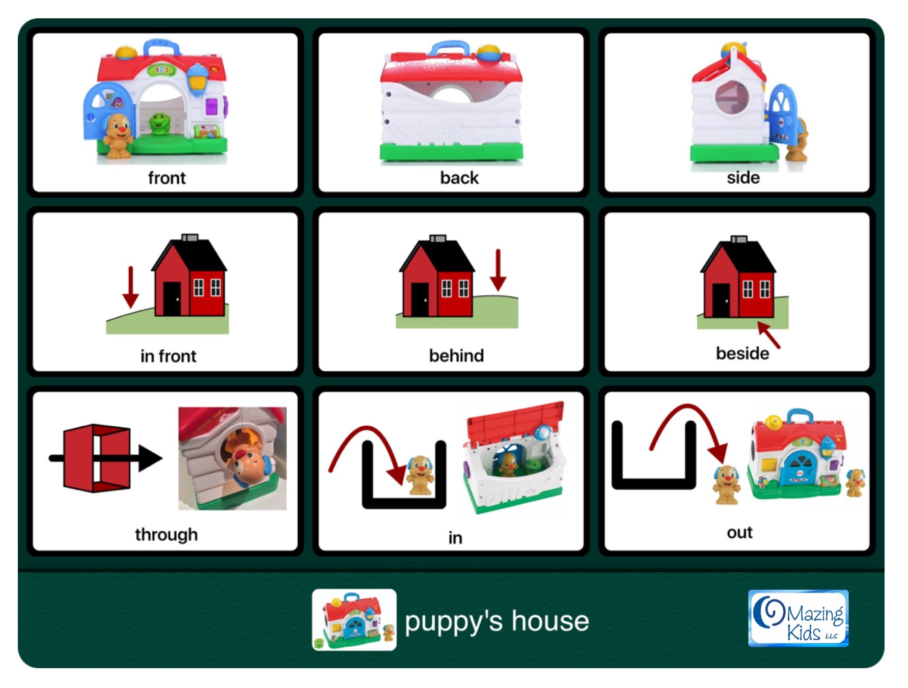 Teaching prepositions spatial concepts free printable teaching prepositions spatial concepts free printable preposition and spatial concept activity cards for the fisher price laugh learn puppys activity robcynllc Image collections