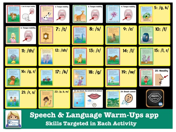 Free visual for Super Duper Speech and Language Warm Ups app
