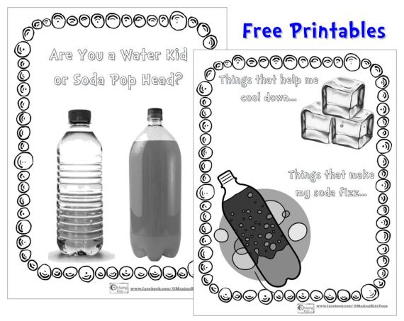 Soda Pop Head - free printables on OMazing Kids