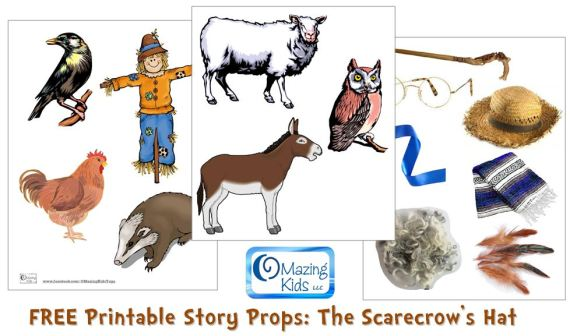 Scarecrow Hat Template | The Scarecrow S Hat By Ken Brown Free Printable Story Props