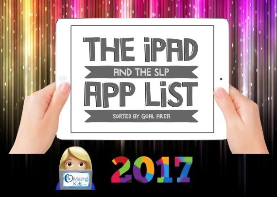 The IPad SLP In 2017 App List For SLPs Sorted By Goal Area