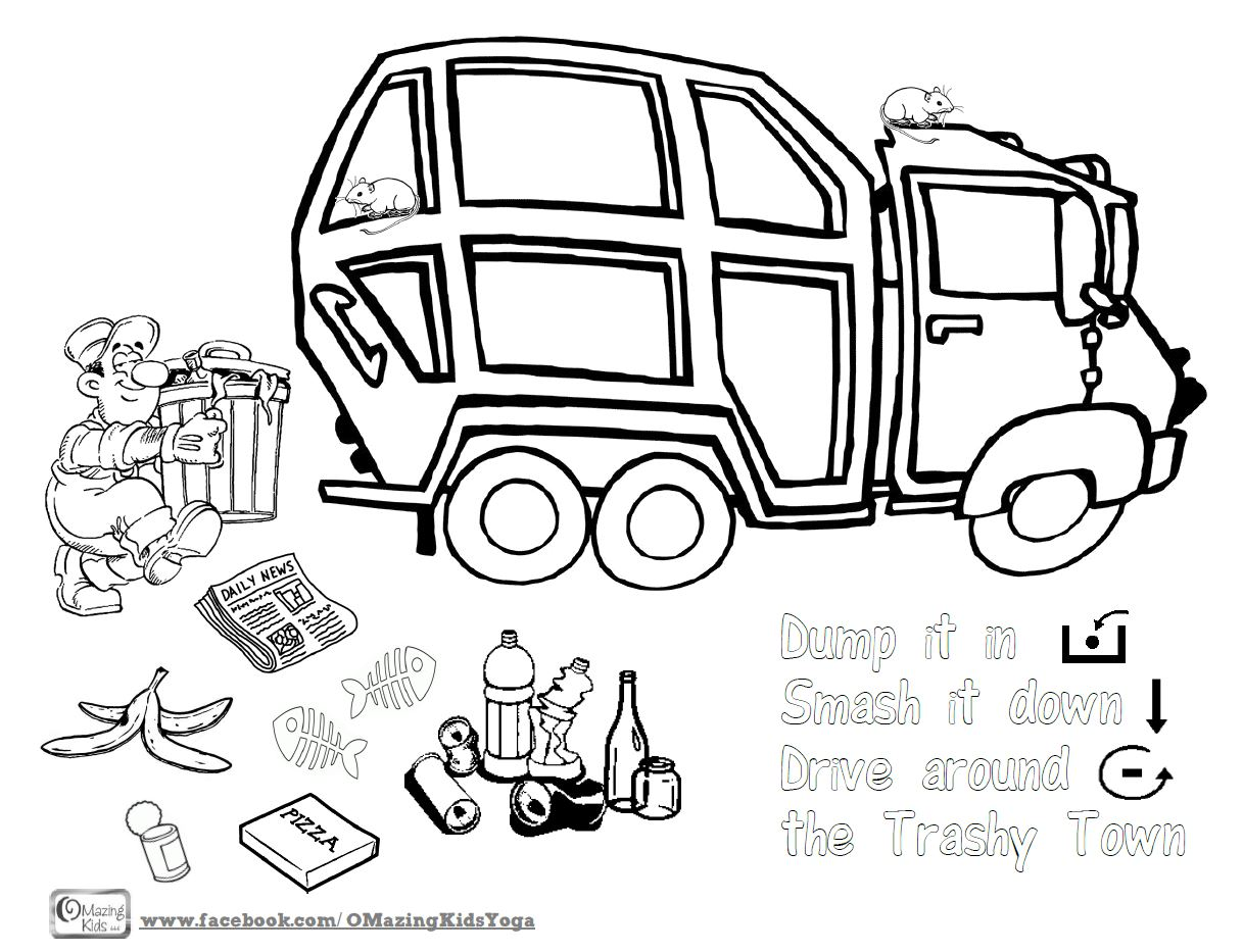 Trashy Town coloring page OMazing Kids