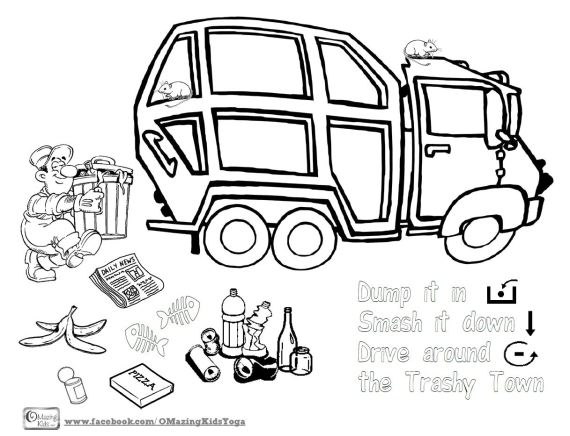 Free Printable Trashy Town Coloring Page If You Dont Have The Book By Andrea Zimmerman And David Clemesha Take A Look At This Video