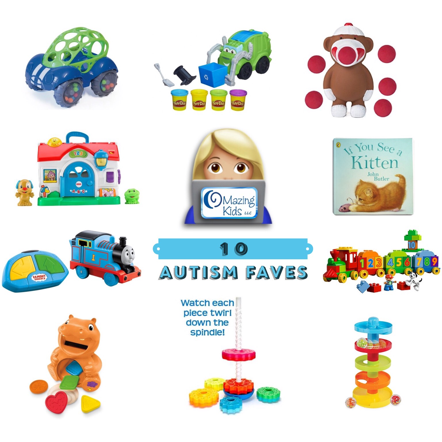 "10 Autism Faves nine toys & a ""must have"" book"