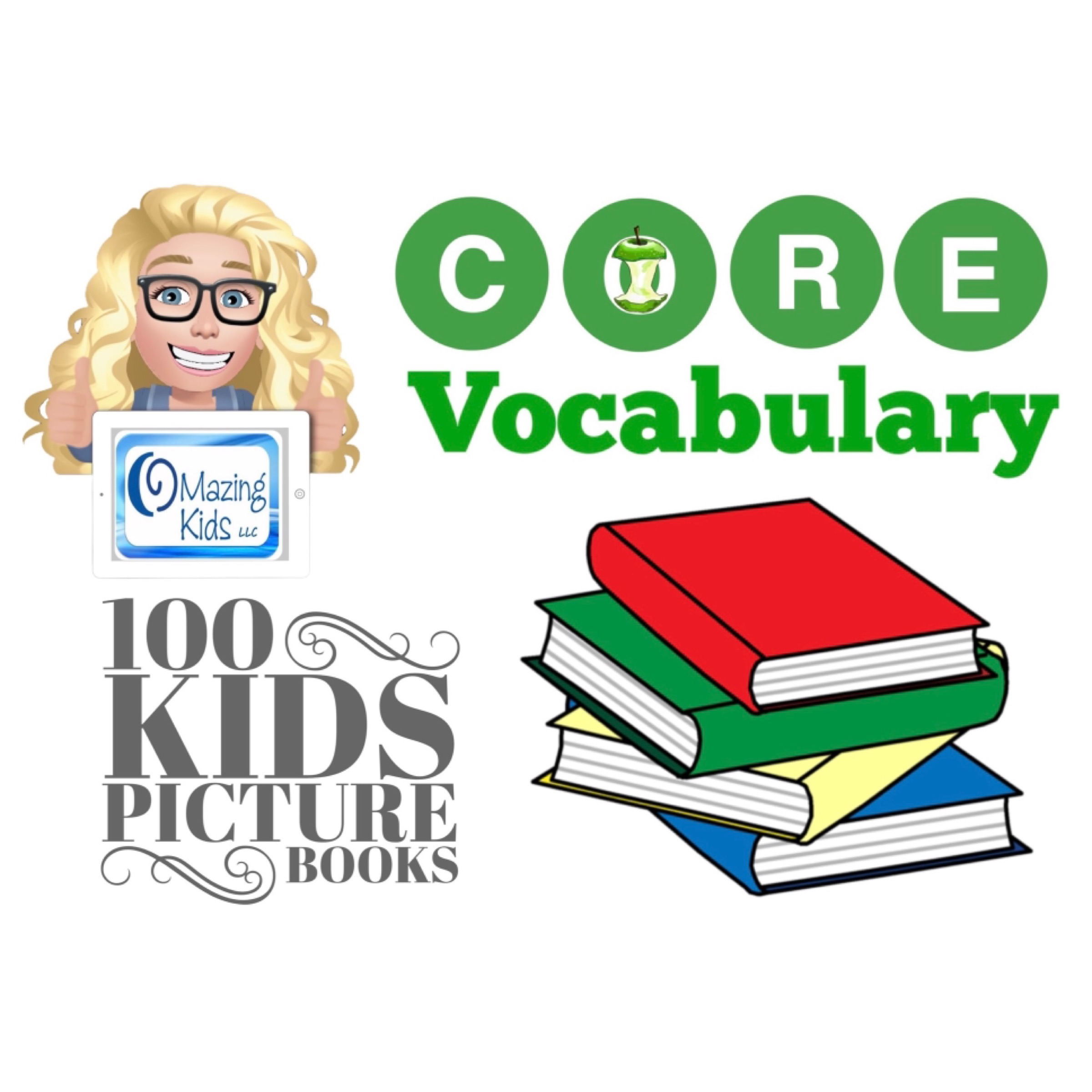 100 great kids picture books to target Core Vocabulary for AAC users - cover image
