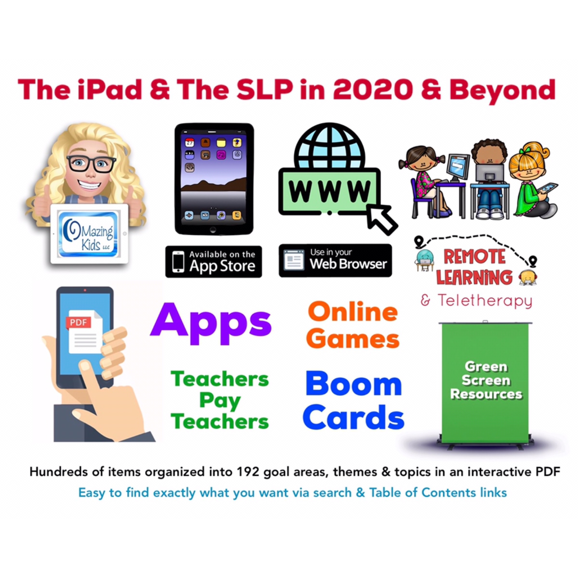 The iPad and the SLP in 2020 and Beyond - a new free interactive resource from OMazing Kids